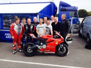 Our man John on a Michelin Tyres track day along with World Superbikes champion Carl Fogarty