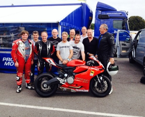 Our man John on a Michelin Tyres track day along with World Superbikes champion CarlFogarty
