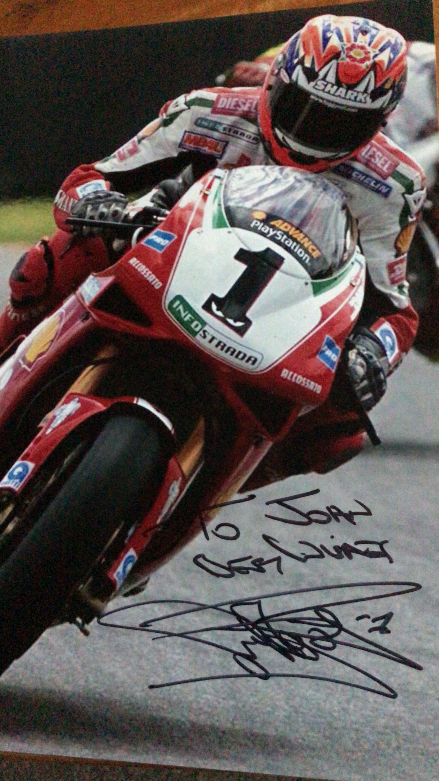 World Champion Carl Fogarty sent me a signed photo - MEGA!